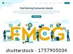 fmcg. fast moving consumer... | Shutterstock .eps vector #1757905034