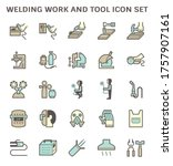 welding work and tool icon i.e. ...   Shutterstock .eps vector #1757907161