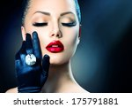 beauty fashion glamour girl... | Shutterstock . vector #175791881
