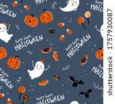 fun hand drawn halloween...   Shutterstock .eps vector #1757930087