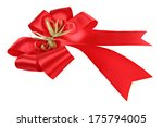 red bow isolated on white... | Shutterstock . vector #175794005
