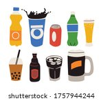 soft drinks are usually served... | Shutterstock .eps vector #1757944244