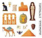 ancient egypt set  egyptian... | Shutterstock .eps vector #1757961851