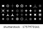 set white collection star icons ...   Shutterstock .eps vector #1757973161