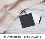 Close up black paper sale tag...