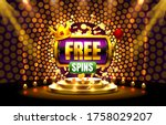 casino free spins  777 slot... | Shutterstock .eps vector #1758029207
