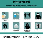 basic protection and prevention ... | Shutterstock .eps vector #1758050627