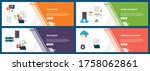 banner set with icons for...   Shutterstock .eps vector #1758062861