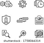 cyber security icons log... | Shutterstock .eps vector #1758066314