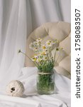 conceptual rustic jar vase... | Shutterstock . vector #1758083507