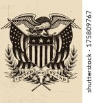 hand drawn american eagle | Shutterstock .eps vector #175809767