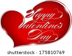 happy valentine's day    text... | Shutterstock .eps vector #175810769