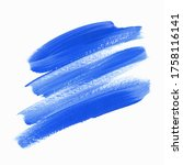 blue brush paint grunge texture ... | Shutterstock .eps vector #1758116141