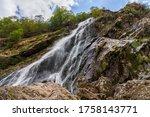 Panoramic view of the Powerscourt Waterfall, Ireland