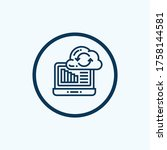 cloud computing sync icon.... | Shutterstock .eps vector #1758144581