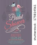 bridal shower invitation card... | Shutterstock .eps vector #175814561