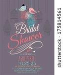 bridal shower invitation card... | Shutterstock .eps vector #175814561