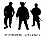 soldiers silhouette | Shutterstock .eps vector #175815641