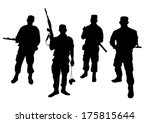 set of soldiers silhouette | Shutterstock .eps vector #175815644