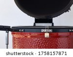 Ceramic Egg Smoker. Red Bbq...