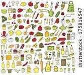 food set | Shutterstock .eps vector #175816547