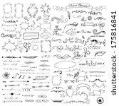 design elements | Shutterstock .eps vector #175816841