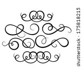 calligraphic decorative... | Shutterstock .eps vector #175818215