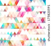 rainbow triangle seamless... | Shutterstock .eps vector #175820591