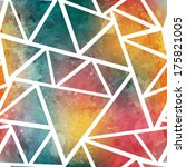 colored triangle seamless...   Shutterstock .eps vector #175821005