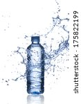 water splash on water bottle | Shutterstock . vector #175822199