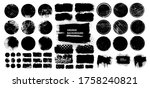 set of black grunge post stamps ... | Shutterstock .eps vector #1758240821