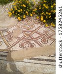 Remains Of An Ancient Mosaic Of ...