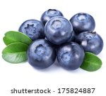 Blueberries Isolated On White...