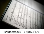 Closeup Of Old Sheet Music In...