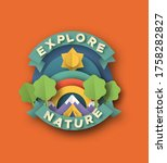 explore nature quote label in... | Shutterstock .eps vector #1758282827