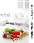 fresh vegetables in the kitchen | Shutterstock . vector #175828745