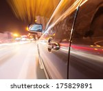 car on the road with motion... | Shutterstock . vector #175829891