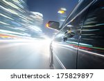car on the road with motion... | Shutterstock . vector #175829897