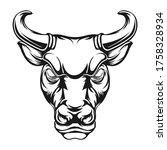 strong bull head vector...   Shutterstock .eps vector #1758328934
