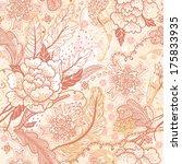 vector seamless floral pattern... | Shutterstock .eps vector #175833935