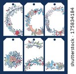 vector set of six tags with... | Shutterstock .eps vector #175834184