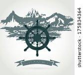illustration steering wheel of... | Shutterstock .eps vector #175834364