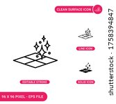 surface floor icons set vector...