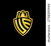 ue monogram logo with shield... | Shutterstock .eps vector #1758395444