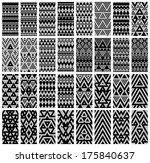 tribal monochrome lace patterns.... | Shutterstock .eps vector #175840637