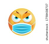cute angry emoticon with face... | Shutterstock .eps vector #1758438737