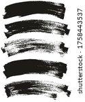 flat paint brush thin long...   Shutterstock .eps vector #1758443537