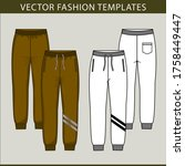sweatpants fashion.  flat... | Shutterstock .eps vector #1758449447