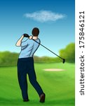 on the golf course | Shutterstock . vector #175846121