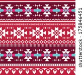 tribal aztec vector seamless... | Shutterstock .eps vector #175846451